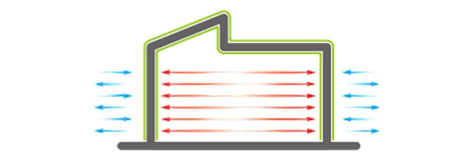 Image demonstrates how Aspira makes home warmer by keeping the brickwork drier