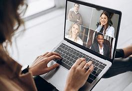 Online business meeting. Business team w