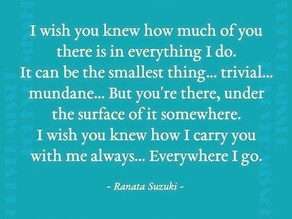 Poem by Ranata Suzuki: I wish you knew