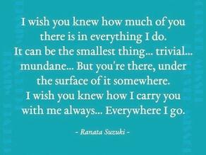 Poem by Ranata Suzuki: I wish you knew