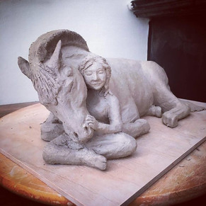 Nog een voorbeeld van een persoonlijke handgemaakte urn door Susanne Arnoldussen-Suermondt van De Urn.