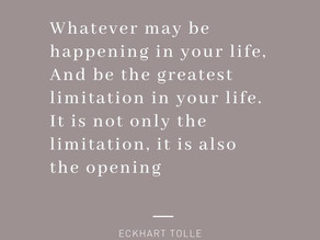 From limitation to opening