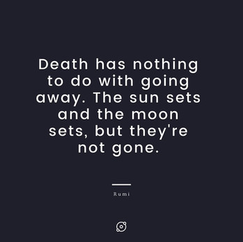 Soothing words of Rumi on death and dying
