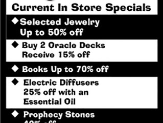 Current In Store Specials