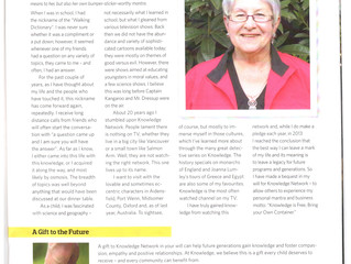 Knowledge Network; Maggy's Lifelong Love of Knowledge