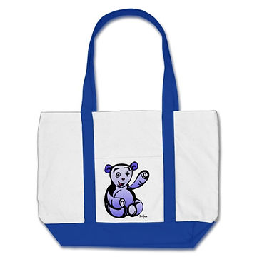hybrid artwork, hybridartwork, artwork, images, cool artwork, cool, tote bag, panda, bear, bag, tote.