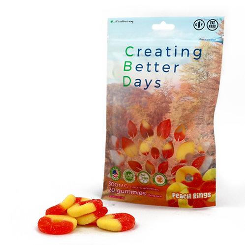 Creating Better Days Gummies Peach Rings 20 pack