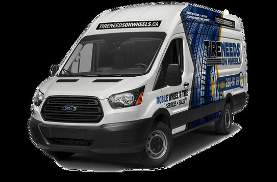 white mobile tire service van