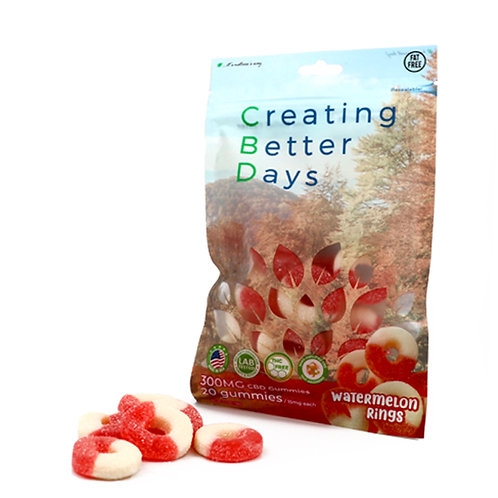 Creating Better Days Gummies Watermelon Rings 20 pack