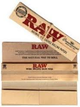 Raw Hemp Flower Rolling Papers-King Size with Filters