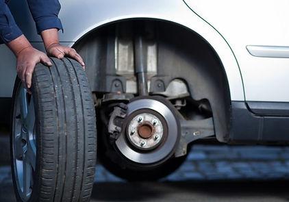 tire change in progress