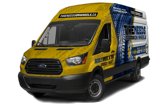 yellow service van