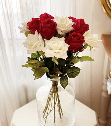 Red & White rose bouquet