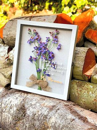 Meadow Bouquet In Glass frame.