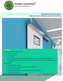 Hospital hermatic Door