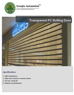 Trasperant Pc Door