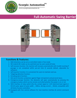 Full Automatic Swing barrier