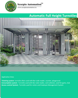 Automatic Full Height Turnstile