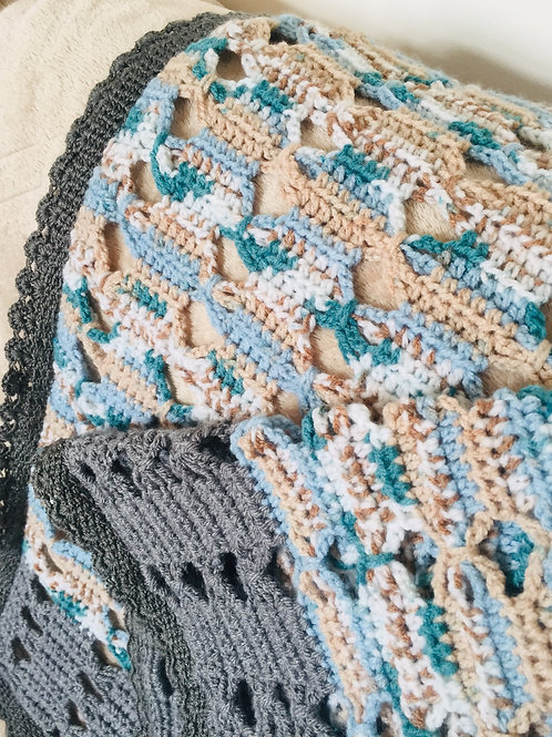 Crochet Baby Blanket & Bunting Pattern, Babies Blanket, Nursery Decor, Garland