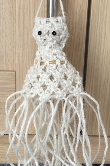Ghostly Macrame Pattern, Ghost bunting, Ghost, Spooky Decor, Halloween decor