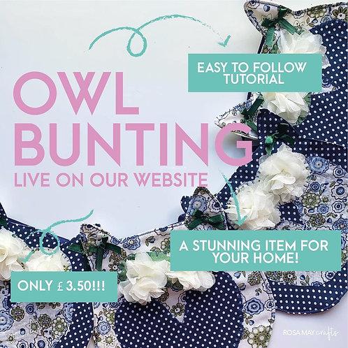 Owl Bunting, Woodland Garland