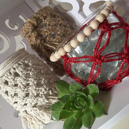 Macrame Candle Holder Pattern, Macrame Pattern, Glass Covers, Home Decor, Boho