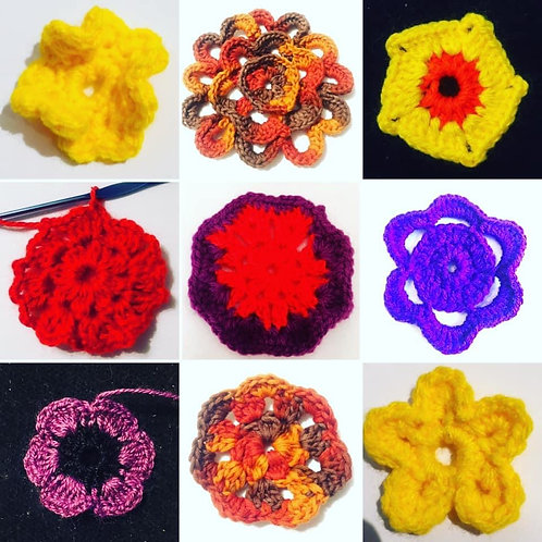 Crochet Mixed Flower Patterns