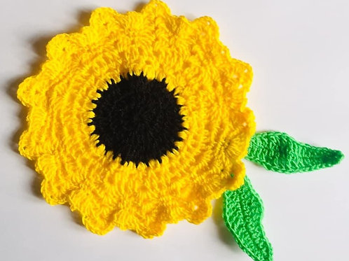 Sunflower Crochet Pattern, Sunflower Bunting, DIY Crochet Pattern