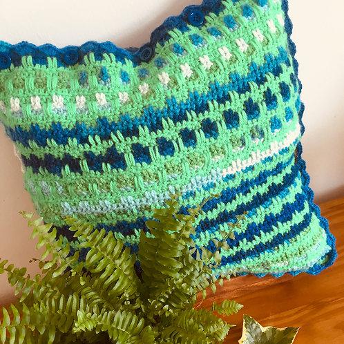 Crochet Weave Cushion Cover Pattern, Crochet Pattern, Home Decor, Nursery Decor