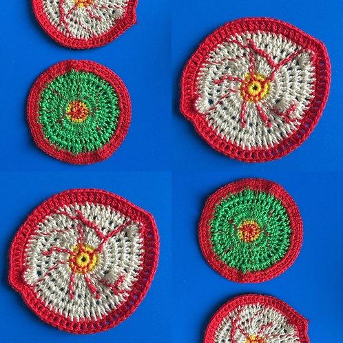 Bloodshot Eyeballs Crochet Pattern, Halloween Crochet Paattern