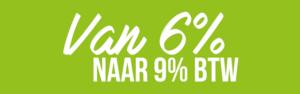 BTW FysioSport van 6% naar 9%