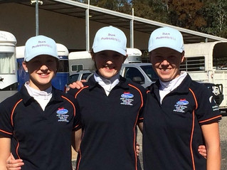 Three MVDHC young riders represent the Manning Valley at National Young Rider Dressage Championships