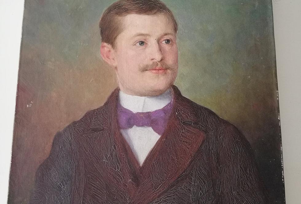 Portrait de notable début XXe