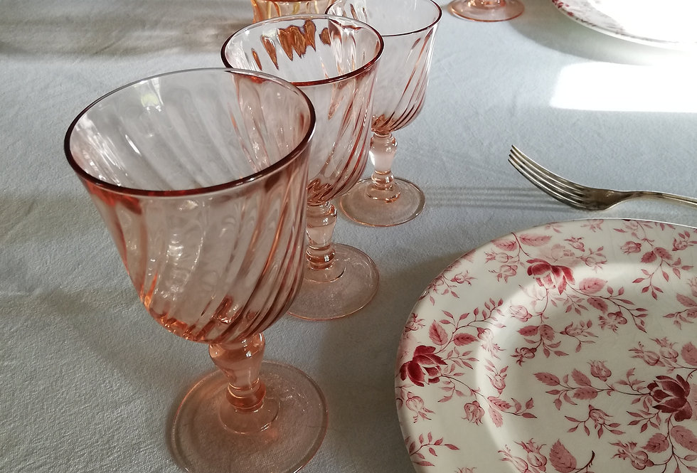 6 grands verres rose *port compris en Mondial relay