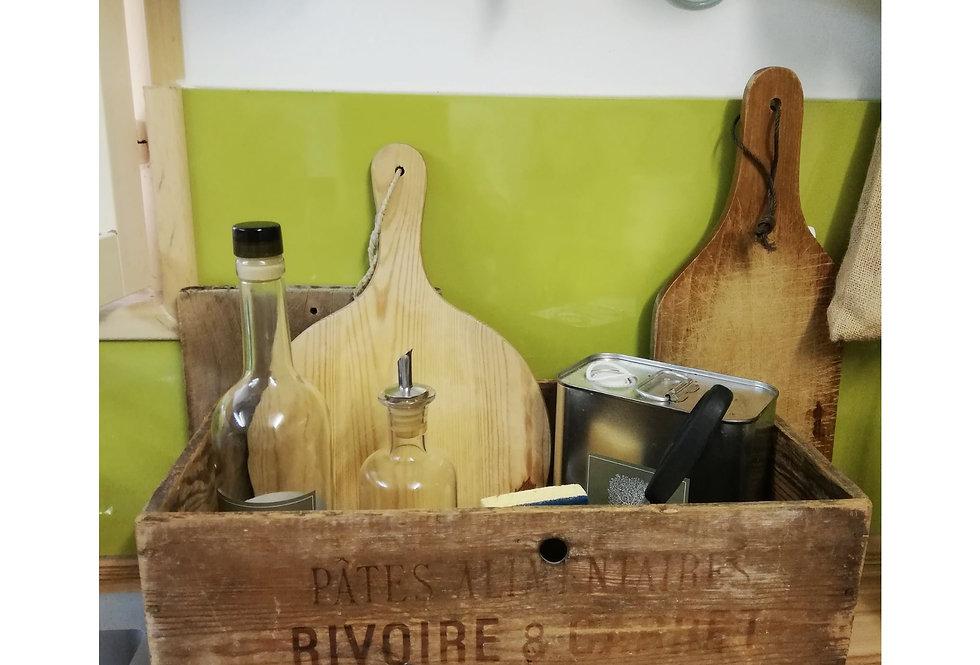 caisse publicitaire bois ancienne vintage