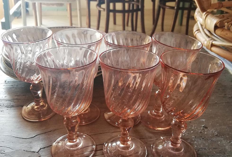 verres rosaline vintage