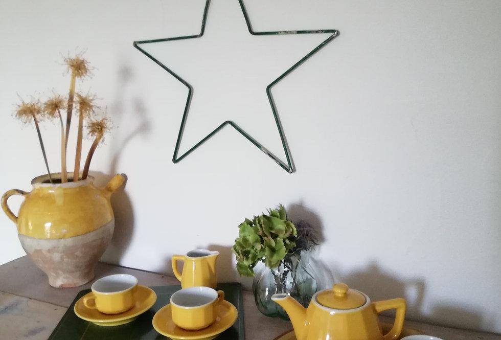 service a thé café Apilco vintage jaune