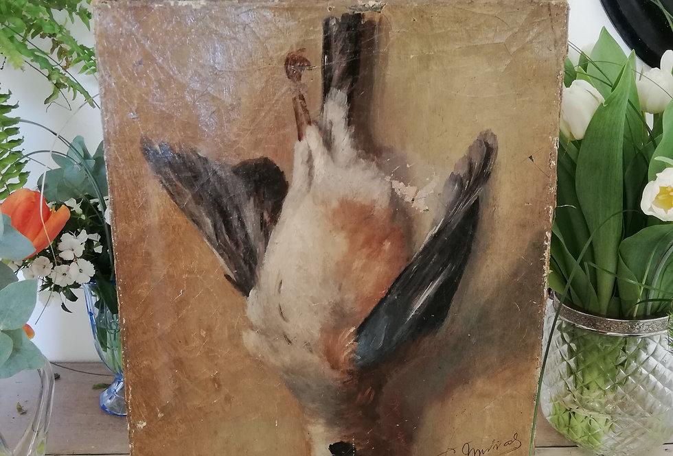peinture trophée de chasse XIXe