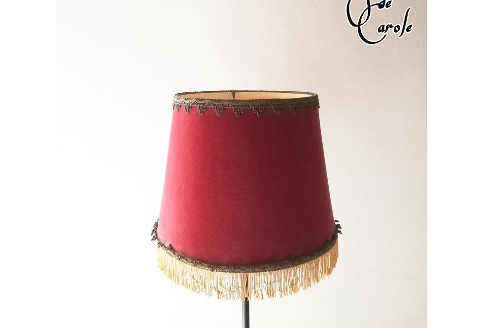 abat jour vintage velours rouge