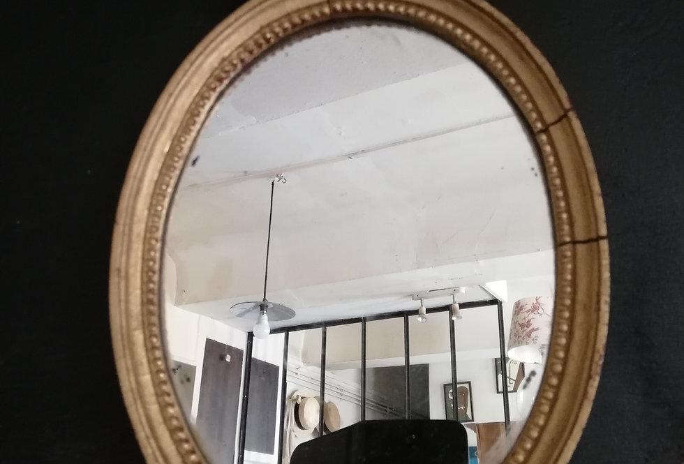 Miroir ovale style Louis XIII