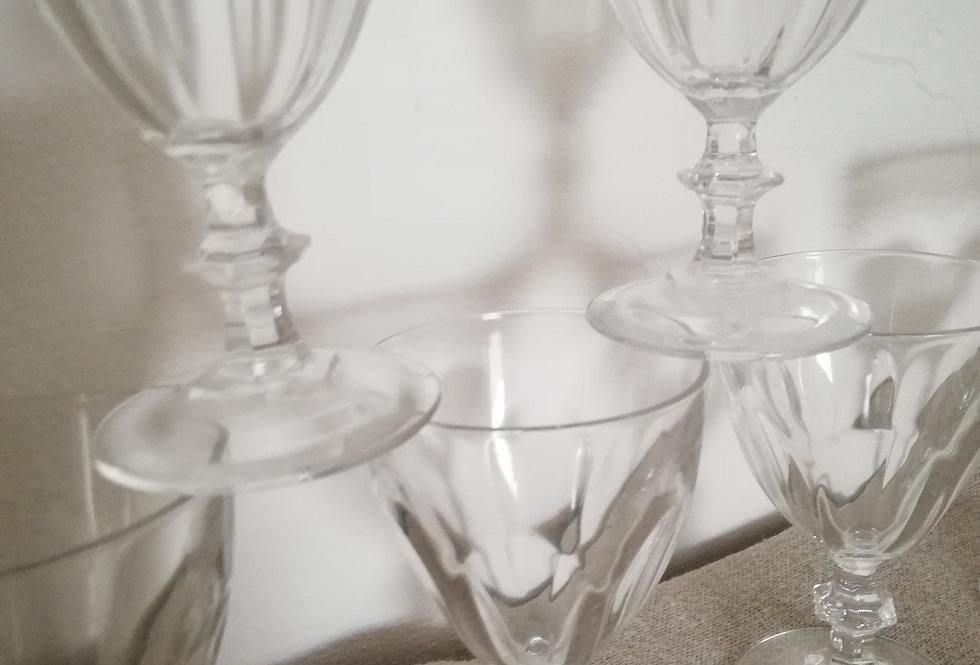 verres a vin vintage cristal