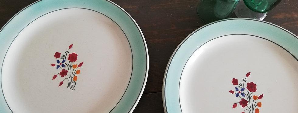 assiettes marlaine creil et montreau