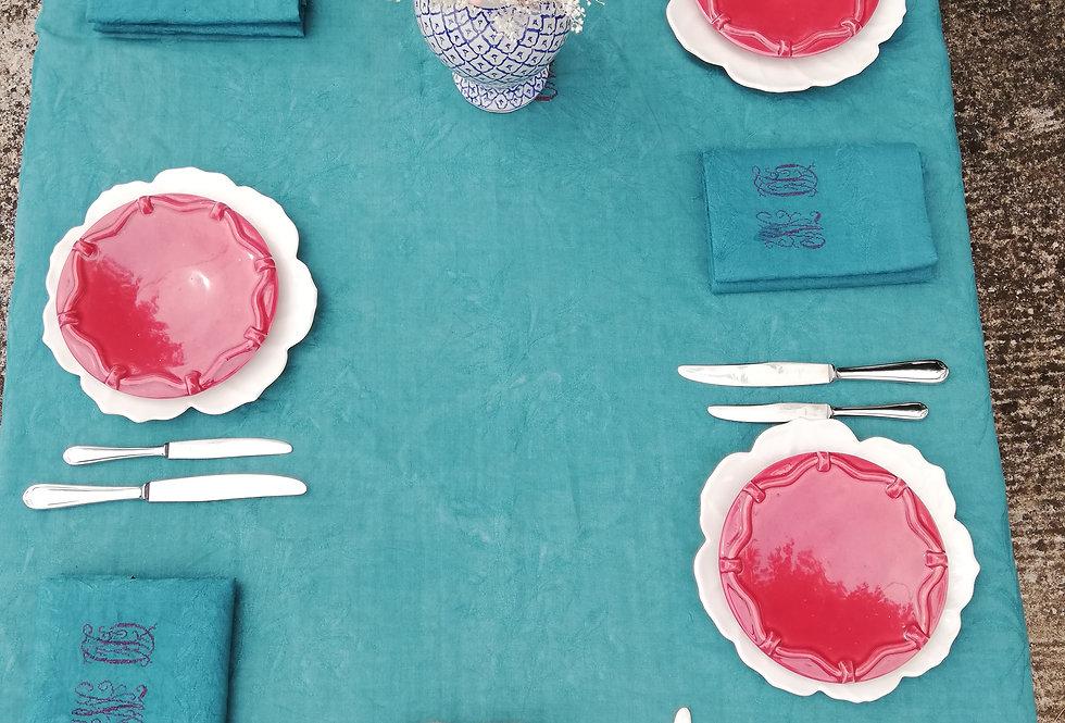 assiettes fushia vintage faience vernissé vallauris