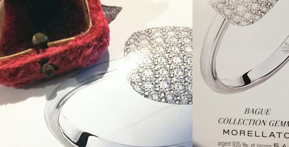 Bague Francaise vintage art-déco en argent avec pierres, Sylver ring