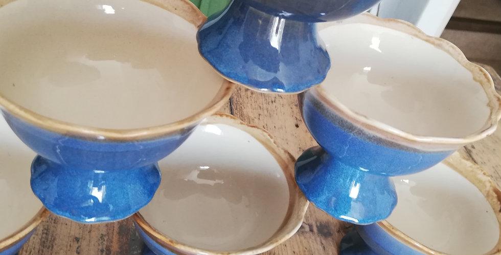 Coupes en porcelaine pour boules de glace