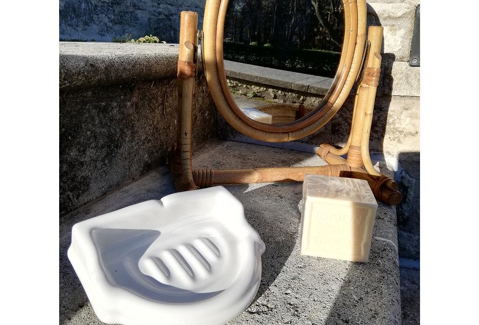 Porte savon vintage en céramique