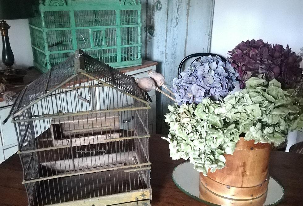 Véritable ancienne cage à oiseaux