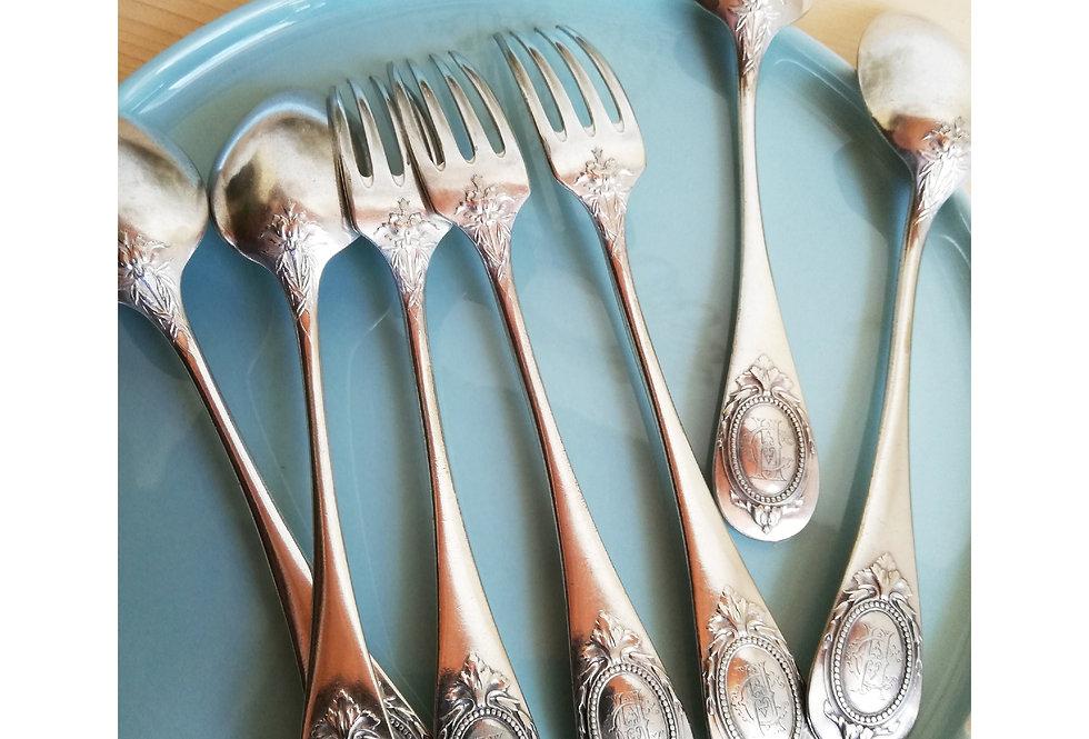 fourchetes et cuillères vintage Christofle