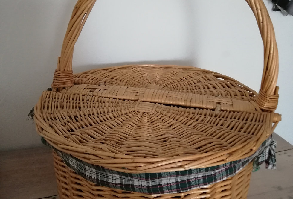 Grand panier vintage rond
