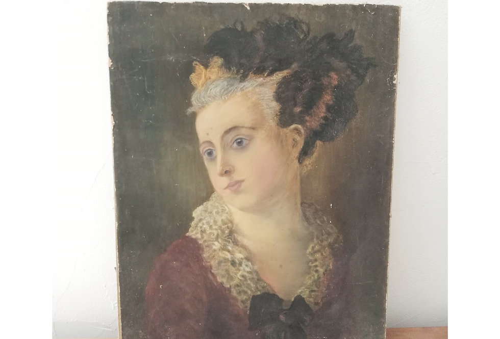 portrait femme fin XIIIe